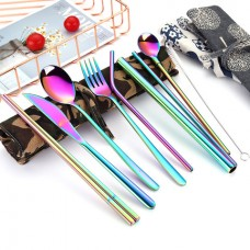 Travel Cutlery Set with Cotton Pouch